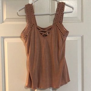 Maurices Pink Tank Top Size M
